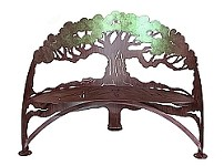 Tree Bench Hand Crafted Steel