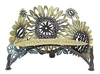 Sunflower Bench  Hand Crafted Steel One of Our Favorites Plus Free Shipping